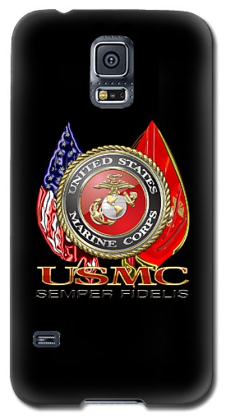 U. S. Marine Corps U S M C Emblem On Black Galaxy S5 Case