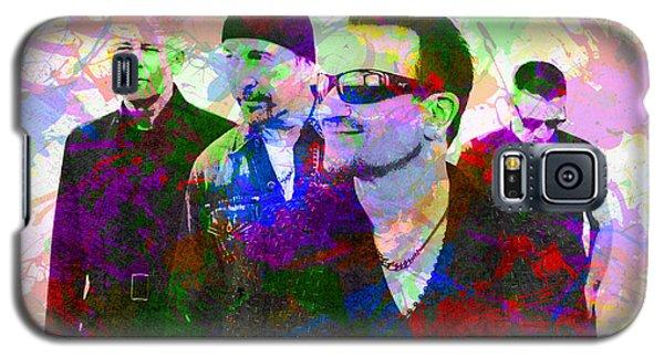U2 Band Portrait Paint Splatters Pop Art Galaxy S5 Case