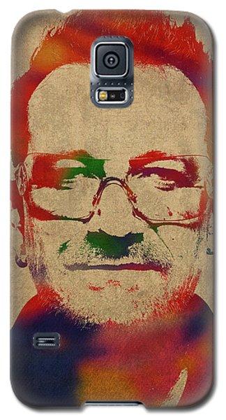 U2 Bono Watercolor Portrait Galaxy S5 Case