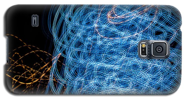 Ufa Neon Abstract Light Painting Sodium #7 Galaxy S5 Case by John Williams