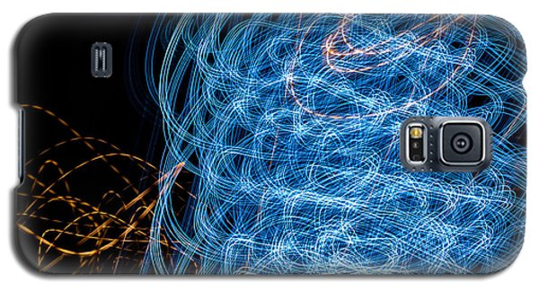 Ufa Neon Abstract Light Painting Sodium #7 Galaxy S5 Case