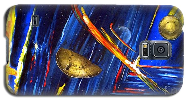 Galaxy S5 Case featuring the painting UFO by Arturas Slapsys