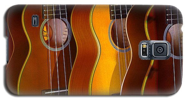 Galaxy S5 Case featuring the photograph Ukes by Jim Mathis