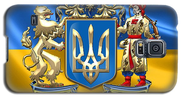 Patriotic Galaxy S5 Case - Ukraine - Greater Coat Of Arms  by Serge Averbukh