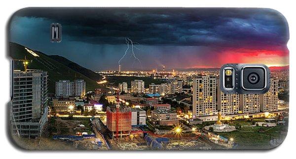 Ulaanbaatar Sunset Thunderstorm Galaxy S5 Case