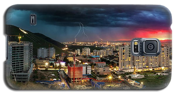 Ulaanbaatar Sunset Thunderstorm Galaxy S5 Case