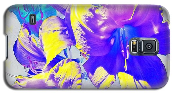 Galaxy S5 Case featuring the photograph Ultraviolet Daylilies by Shawna Rowe