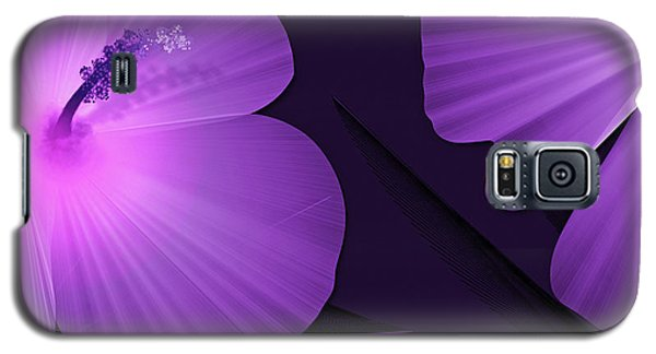 Ultraviolet Hibiscus Tropical Nature Print  Galaxy S5 Case