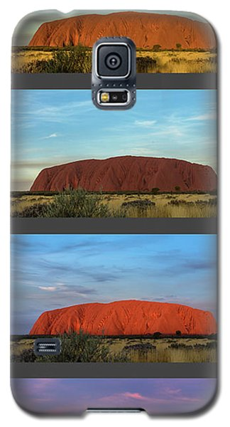 Galaxy S5 Case featuring the photograph Uluru Sunset by Werner Padarin