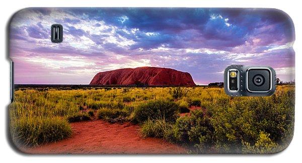 Galaxy S5 Case featuring the photograph Uluru by Ulrich Schade