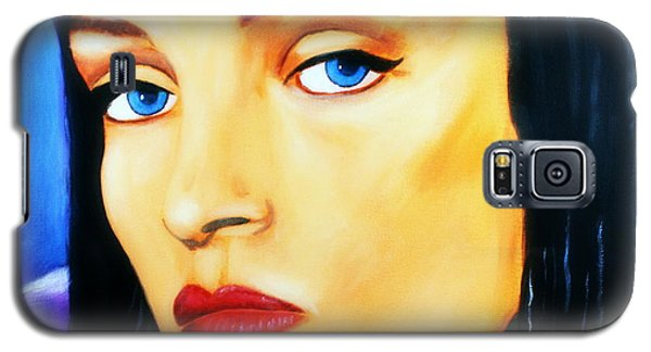 Galaxy S5 Case featuring the painting Uma Thurman In Pulp Fiction by Bob Baker