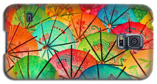 Galaxy S5 Case featuring the photograph Umbrellas Galore by Bobby Villapando