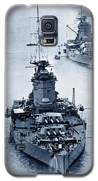 Hms Nelson And Hms Rodney Battleships And Battlecruisers Hms Hood Circa 1941 Galaxy S5 Case