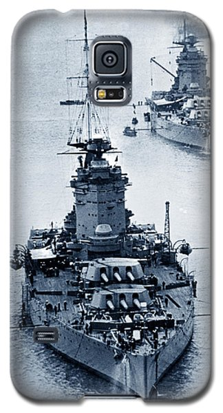 Hms Nelson And Hms Rodney Battleships And Battlecruisers Hms Hood Circa 1941 Galaxy S5 Case by California Views Mr Pat Hathaway Archives