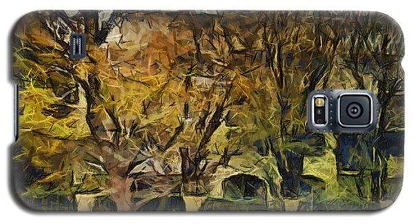 Un Cheteau Dans Le Paradis - Two Of Two  Galaxy S5 Case by Sir Josef - Social Critic -  Maha Art