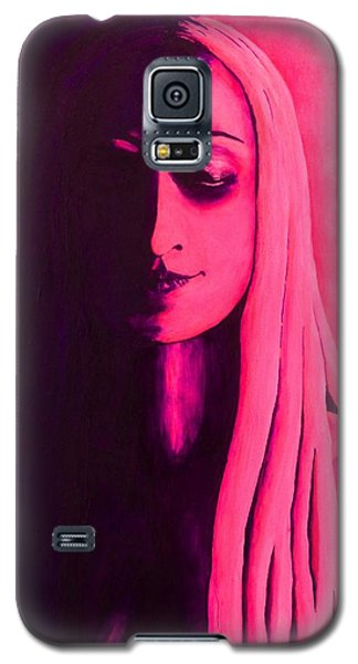 Unanswered In Pink And Purple Galaxy S5 Case