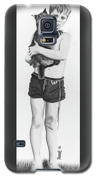 Galaxy S5 Case featuring the painting Uncle George by Ferrel Cordle