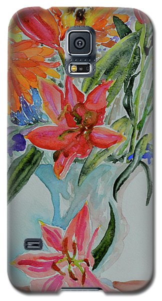 Galaxy S5 Case featuring the painting Uncontainable by Beverley Harper Tinsley