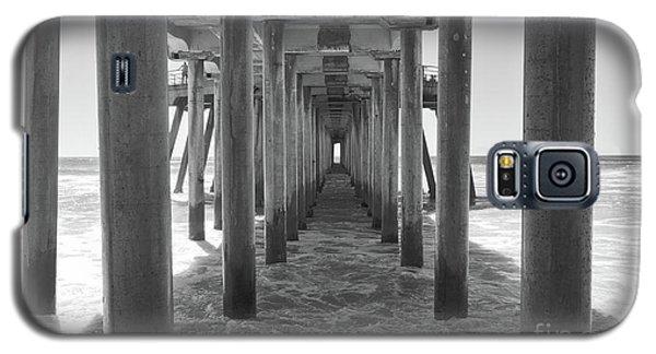 Galaxy S5 Case featuring the photograph Under Huntington Beach Pier by Ana V Ramirez