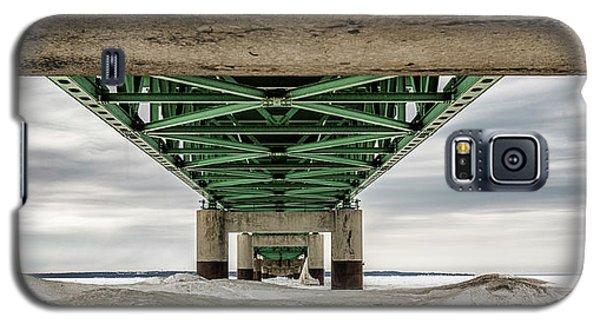 Galaxy S5 Case featuring the photograph Under Mackinac Bridge Winter by John McGraw