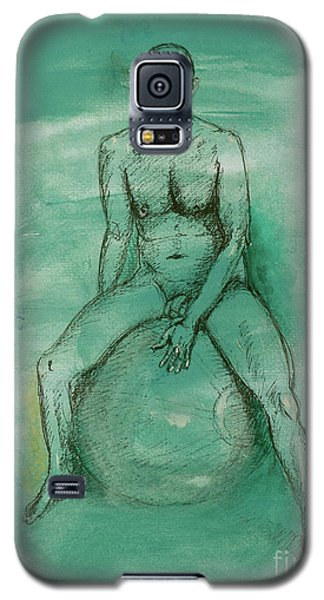 Galaxy S5 Case featuring the drawing Under Pressure by Paul McKey