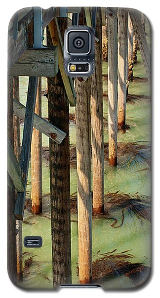 Galaxy S5 Case featuring the photograph Under San Simeon Pier by Art Block Collections