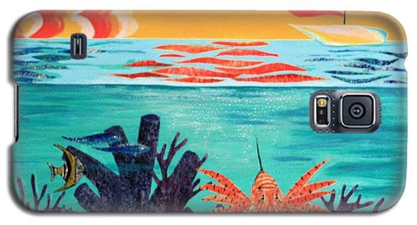 Bright Coral Reef Galaxy S5 Case