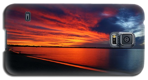 Galaxy S5 Case featuring the photograph Under The Blood Red Sky by Gary Crockett