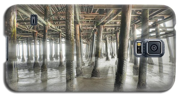 Galaxy S5 Case featuring the photograph Under The Boardwalk Into The Light by David Zanzinger