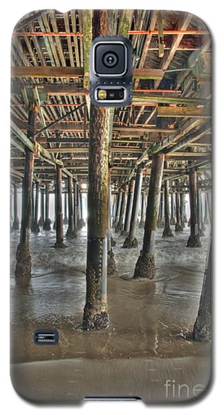 Galaxy S5 Case featuring the photograph Under The Boardwalk Pier Sunbeams  by David Zanzinger