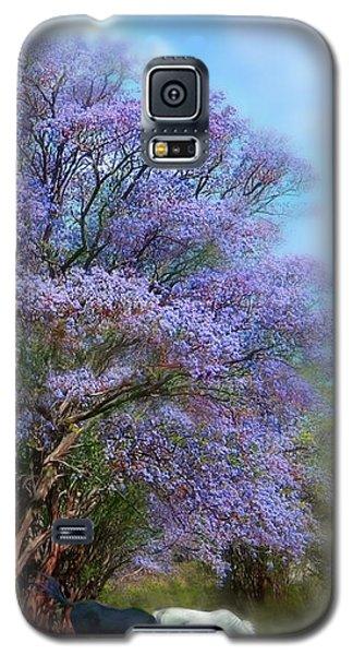 Under The Jacaranda Galaxy S5 Case by Carol Cavalaris
