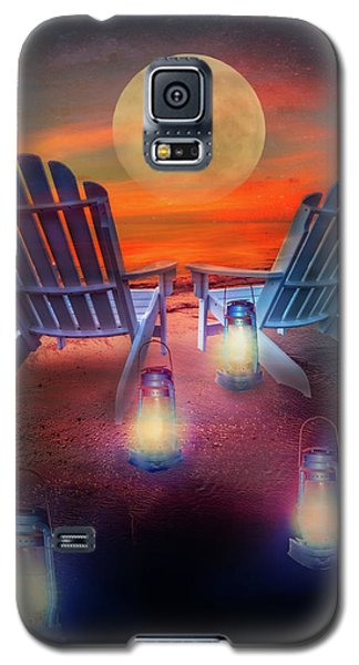 Galaxy S5 Case featuring the photograph Under The Moon by Debra and Dave Vanderlaan