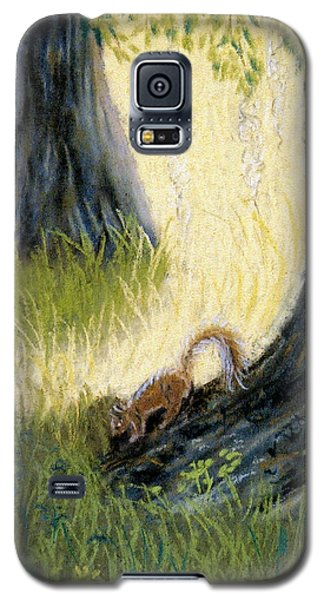 Galaxy S5 Case featuring the pastel Under The Mossy Oak by Jan Amiss