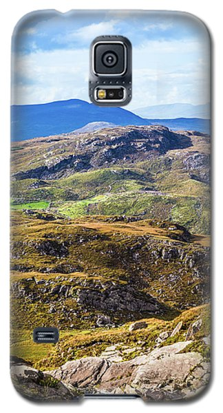 Galaxy S5 Case featuring the photograph Undulating Green, Purple And Yellow Rocky Landscape In  Ireland by Semmick Photo