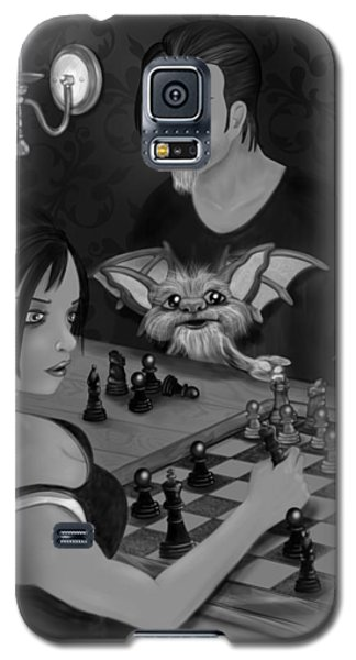 Unexpected Company - Black And White Fantasy Art Galaxy S5 Case