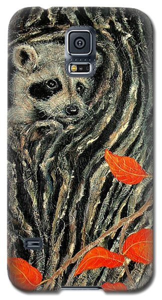 Galaxy S5 Case featuring the painting Unexpected Visitor by Susan DeLain
