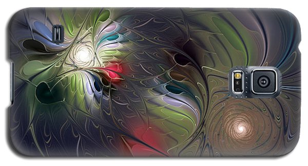 Galaxy S5 Case featuring the digital art Unfading by Karin Kuhlmann