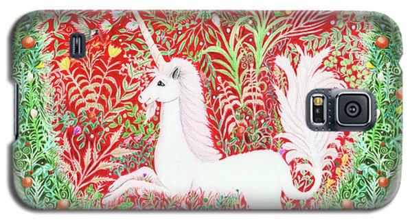 Unicorn Heart With Millefleurs Galaxy S5 Case