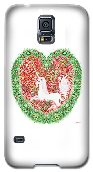 Unicorn Heart With Millefleurs Galaxy S5 Case