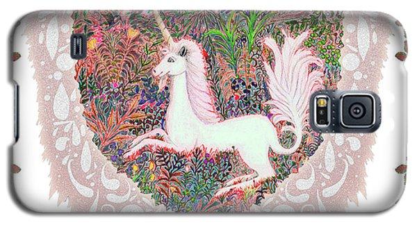 Unicorn In A Pink Heart Galaxy S5 Case