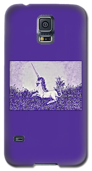 Unicorn In Purple Galaxy S5 Case by Lise Winne