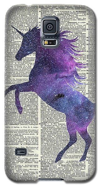Unicorn In Space Galaxy S5 Case by Jacob Kuch