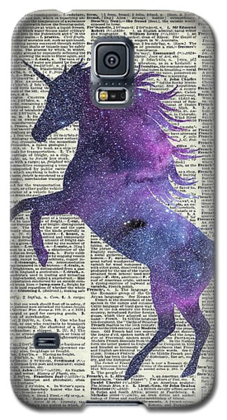 Unicorn In Space Galaxy S5 Case