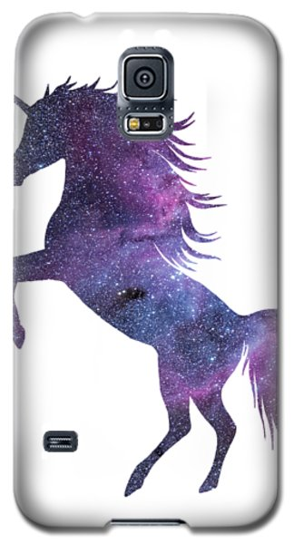 Unicorn In Space-transparent Background Galaxy S5 Case