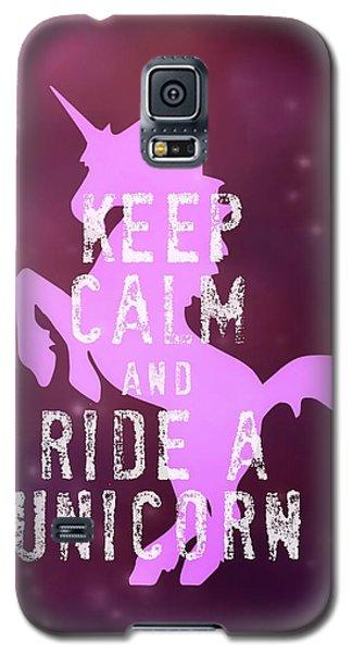 Unicorn Rides Galaxy S5 Case