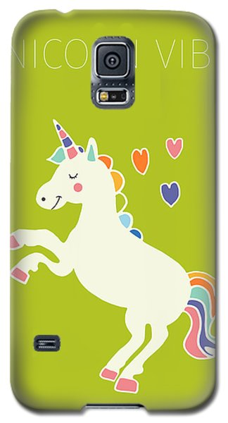 Unicorn Vibes Galaxy S5 Case by Nicole Wilson