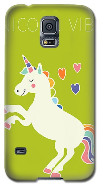 Unicorn Vibes Galaxy S5 Case by Nicole Wilson
