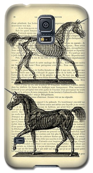 Unicorns Anatomy Galaxy S5 Case by Madame Memento