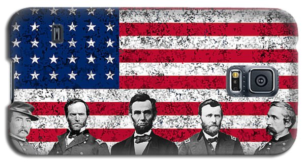 Union Heroes And The American Flag Galaxy S5 Case by War Is Hell Store