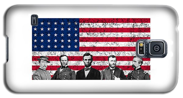 Union Heroes And The American Flag Galaxy S5 Case